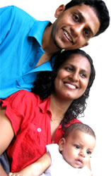 Ranil with his family